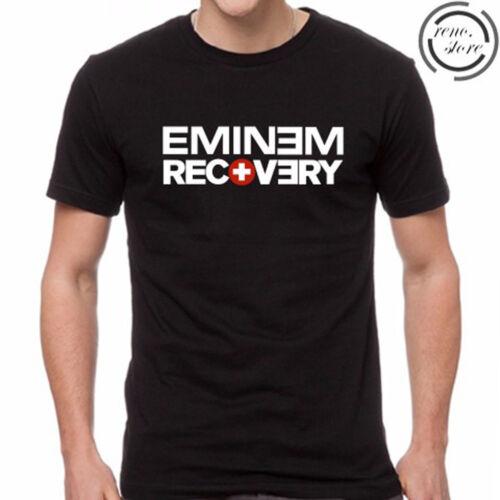 Eminem Recovery Album Logo Men/'s Black T-Shirt Size S M L XL 2XL 3XL