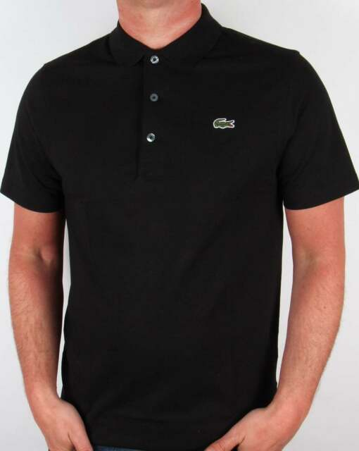 47ef3f239ebcb Lacoste Sport Ultra Lightweight Knit Polo Shirt in Black - 100% Cotton