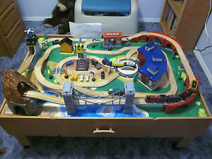 IMAGINARIUM WOODEN TRAIN TABLE PLAY SET WITH SOUNDS THOMAS & FRIENDS ...