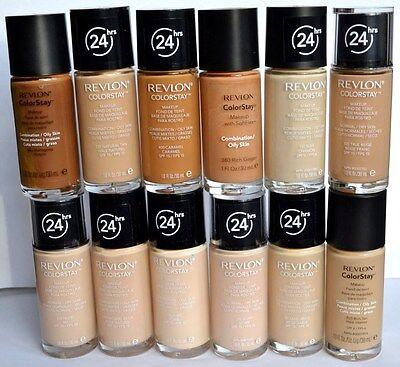 Revlon  Colorstay Foundation  Tan / lvory /  Natural /  Beige / Buff /  Caramel