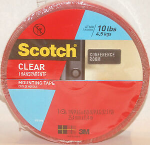 scotch 3m double sided clear mounting tape 1 wide 450. Black Bedroom Furniture Sets. Home Design Ideas