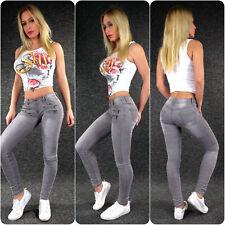 Zazou Pantalones De Cintura Baja Vaqueros Xs S M L Xl Skinny Stretch Cadera 817c Ebay