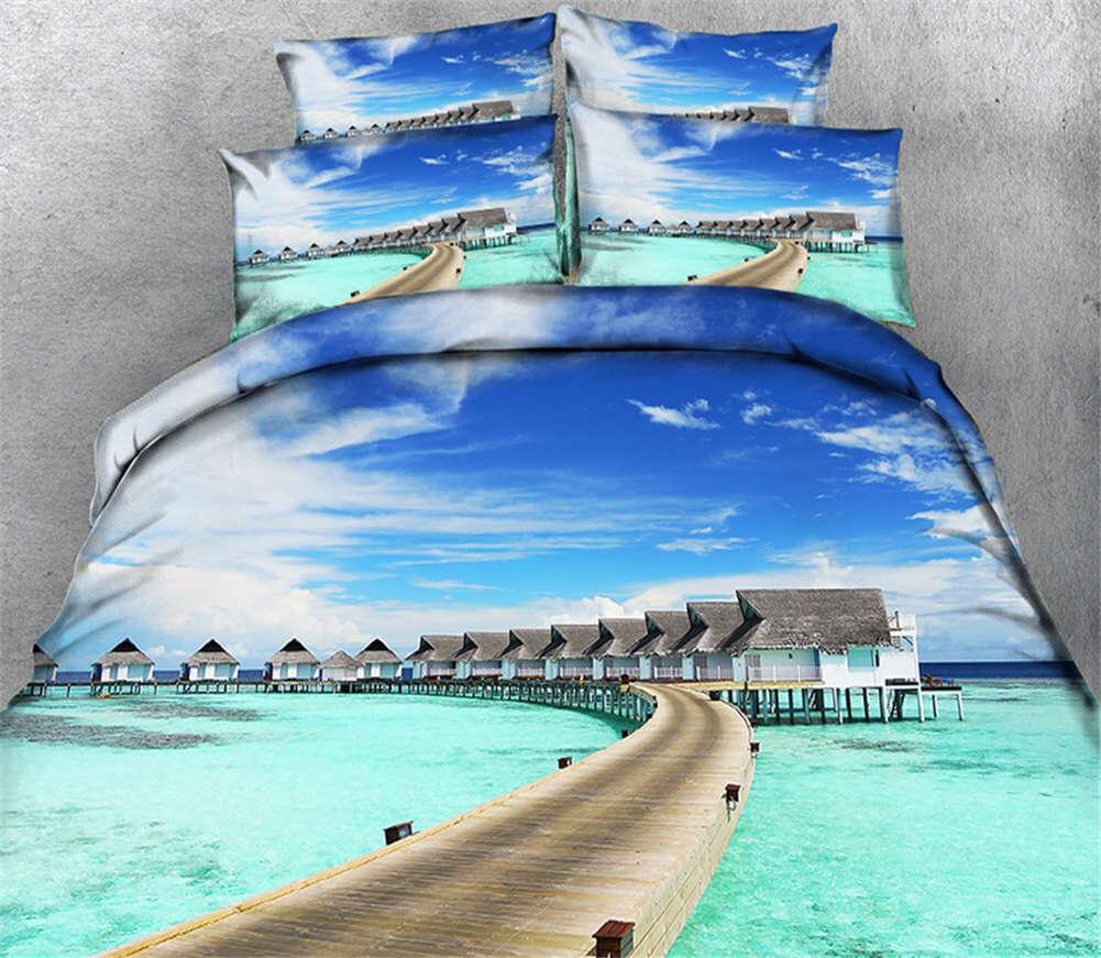 Coasting Cabin 3D Printing Duvet Quilt Doona Covers Pillow Case Bedding Sets