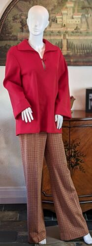 ACT III Vintage 2 Piece 70's Womens Pantsuit Red T