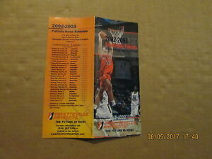 NBDL-Fayetteville-Patriots-Vintage-2002-2003-Basketball-Season-Ticket-Brochure