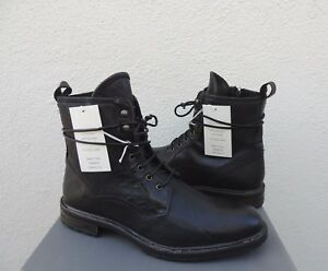 3921ef41a1e Details about UGG COLLECTION LUCCA BLACK LEATHER LACE-UP BOOTS, MEN US 13/  EUR 47~ NIB