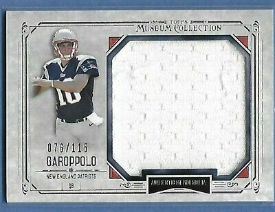 JIMMY GAROPPOLO - PATRIOTS / 49rs - JUMBO JERSEY - SERIAL ...