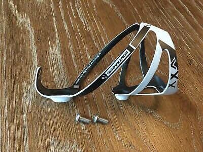 with bolts Pair of Bontrager XXX carbon water bottle cages white