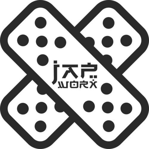 JAPWORX drift plâtre vinyle autocollant voiture jdm decal drift logo jap worx club automobile