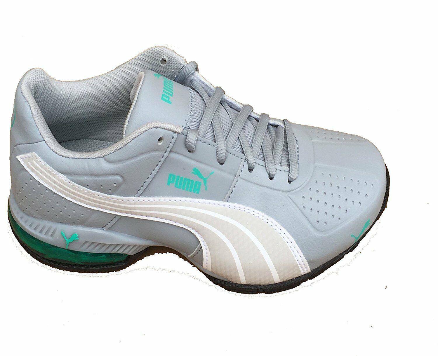 Puma Women's Cell Surin Quarry Gray White Pool Green Atheletic Sneakers (7)