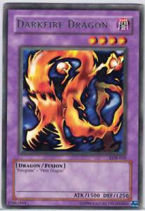 Yugioh Darkfire Dragon LOB-019 Rare Unl Ed LP