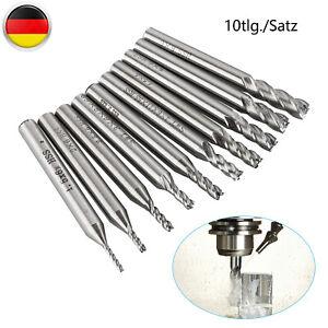 HSS Z=2 Schaftfräser für Metall Kunststoff Holz Fräser-Satz D=4-5-6mm