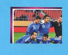 PANINI-EURO 2012-Figurina n.80- SQUADRA/TEAM 1/4 - GRECIA -NEW-DARK BOARD