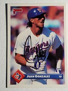 1993-Donruss-Juan-Gonzalez-Auto-Autograph-Card-Rangers-Indians-Signed-555