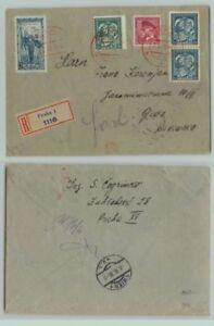 Czechoslovakia-1936-cover-Prague-to-Wien-used-d7221
