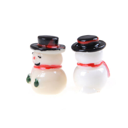 2pcs 1:12 Snowman Button+Green Gloves Christmas Dollhouse Home Miniature Decor