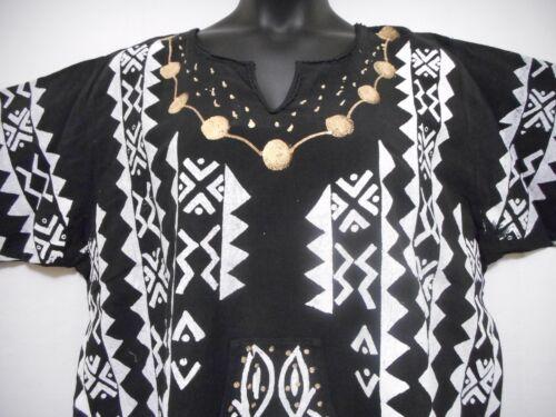 Men women Mud cloth Vintage dashiki Shirt African Blouse Organic Cotton One Size