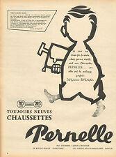 Publicité Advertising  PERNELLE chaussette pour hommes & enfants lingerie