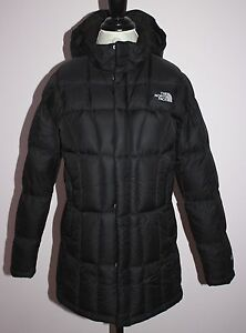 Girls The North Face Black Down Metropolis Parka Coat Size XL   18 ... 834ad28931d7