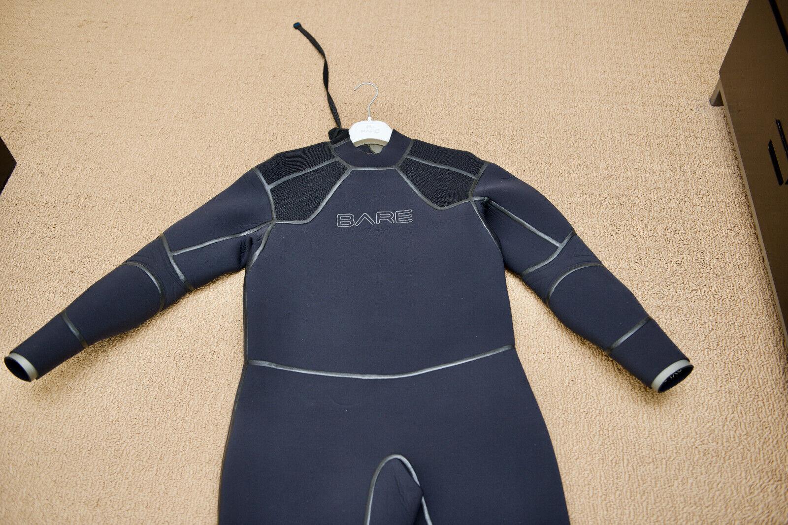 Bare 3mm Reactive Full Jumpsuit Wetsuit Mens Scuba Diving Dive Black//Red XL