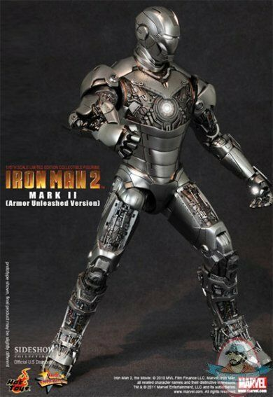 1/6 Movie Masterpiece Iron Man 2 Mark ll Armor Unleashed Version Hot Toys Figure