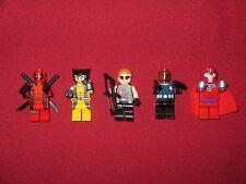 LEGO Superheroes Minifigures LOT,Deadpool,Wolverine,Magneto,Nick Fury,Hawkeye