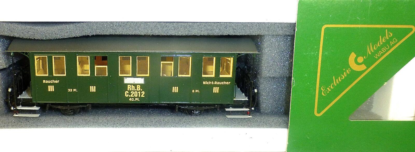 RhB Treno a vapore F D'EPOCA 3  cl. 2012 ESCLUSIVO MODELLO WABU 265.005 H0m