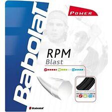 Babolat RPM Blast Tennis String - 1.25mm / 17G - 12M - Black - Free UK P&P