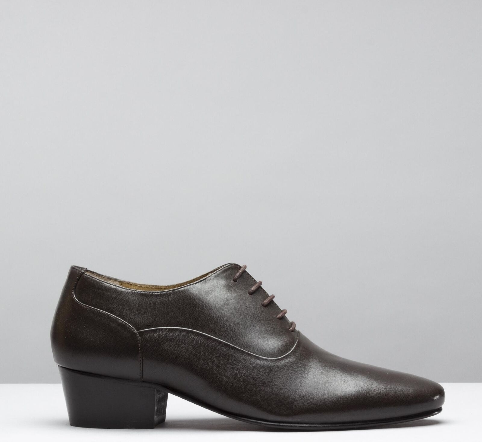 Club Cubano TONI Mens Real Leather Cuban Heel Lace Up Formal Evening shoes Brown