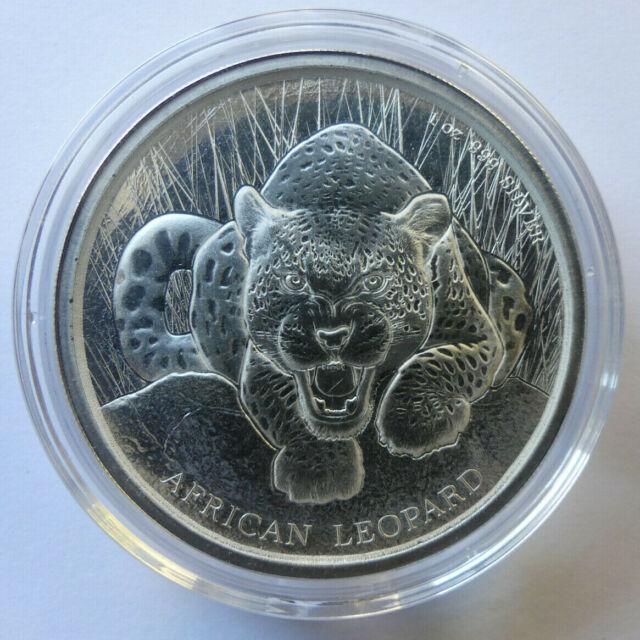 2017 100 Cedis Republic of Ghana African Leopard 1 oz Silver Coin