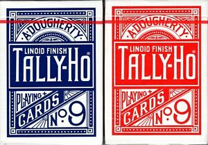 Red Circle Back Sealed Tally Ho Playing Cards USPCC