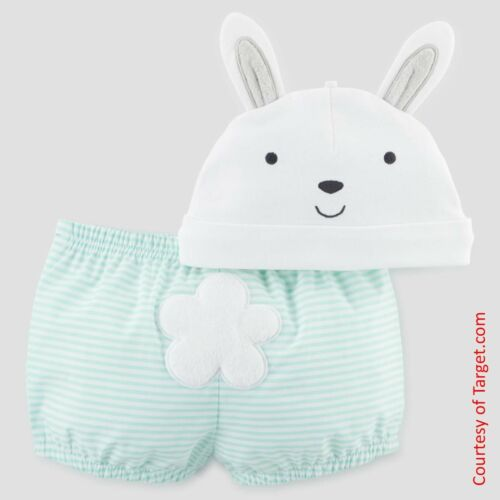 Carters My First Easter Diaper Cover Bloomers /& Bunny Hat NEW 0-3m, 3-6m, 6-9m