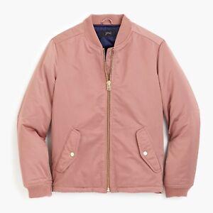 rosa Blush bomber rosa cerniere con J Nwt laterali donna Giacca Crew S 198 YwA0nntq