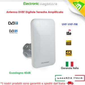 ANTENNA TV TELEVISIONE DIGITALE TERRESTRE DVB-T2 INTERNO/ESTERNO FILTRO LTE A 4G