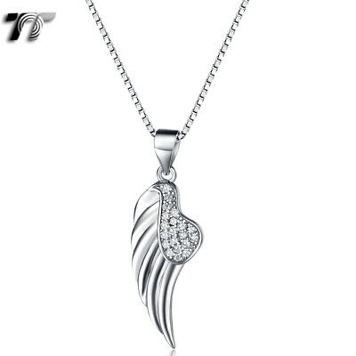 925N01A TT RHODIUM 925 Sterling Silver Clear CZ Corss Pendant Necklace