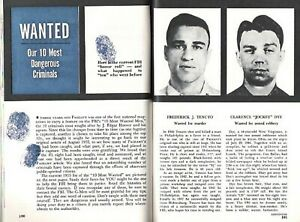 Details about FBI 10 TEN MOST WANTED LIST 1955 PICTORIAL NEW & OLD LIST OF  DANGEROUS CRIMINALS