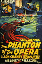The Phantom of the Opera Vintage Horror Movie Poster 1