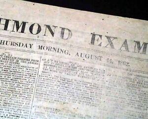 1862-CONFEDERATE-Battle-of-Tazwell-TN-Tennessee-CIVIL-WAR-Richmond-VA-Newspaper