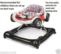 Baby Walker Infant Drive Motoring Activity And Toy Tray Snack Feeding Adjusts