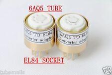 1piece* 6AQ5(adapter top) TO 6P14 EL84 6BQ5  tube converter adapter