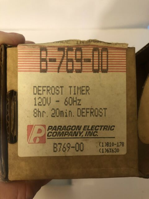 Paragon Defrost Timer B-769-00