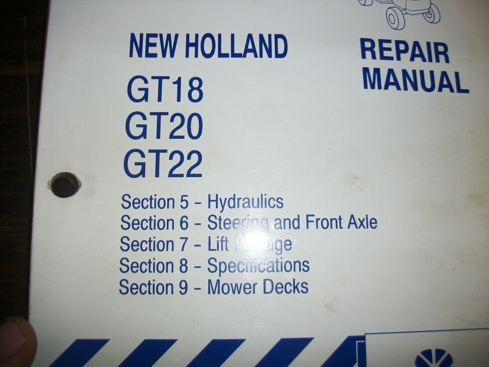 Holland Gt18 Gt20 Gt22 Garden Tractor Repair Manual for sale online on