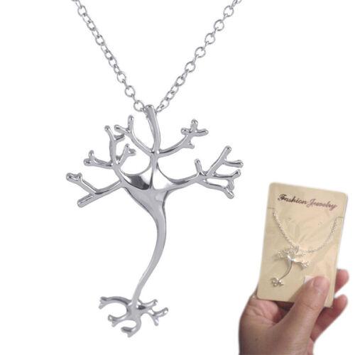 La science bijoux fashion neurone cerveau cellules nerveuses Collier Cadeau lateur à travers vintage