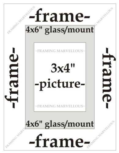 Brushed Bronze Effect Photo Picture Frame with Ivory Mount Choose size