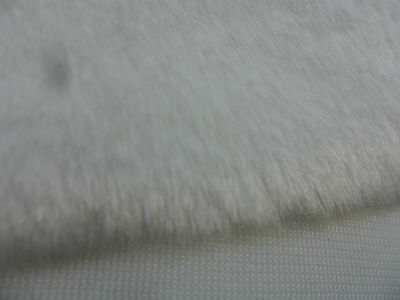 Webpelz,Plüsch, weiss,25 x 40 cm, Florlänge 8 mm -- mit festem Rücken