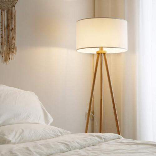 148 cm Höhe Tomons Stehlampe Stativ aus Holz für das Wohnzimmer Schlafzimmer