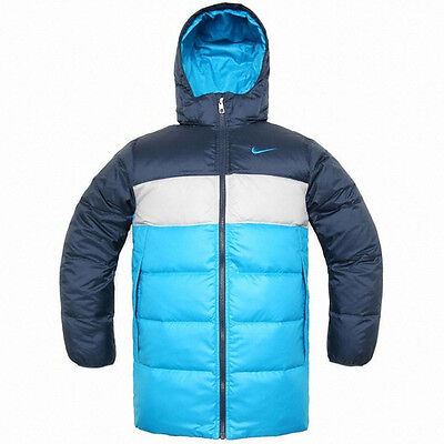 Nike Authentic Boy/'s 550 Fill Down Jacket Silver//Black Sizes M L 481562-010
