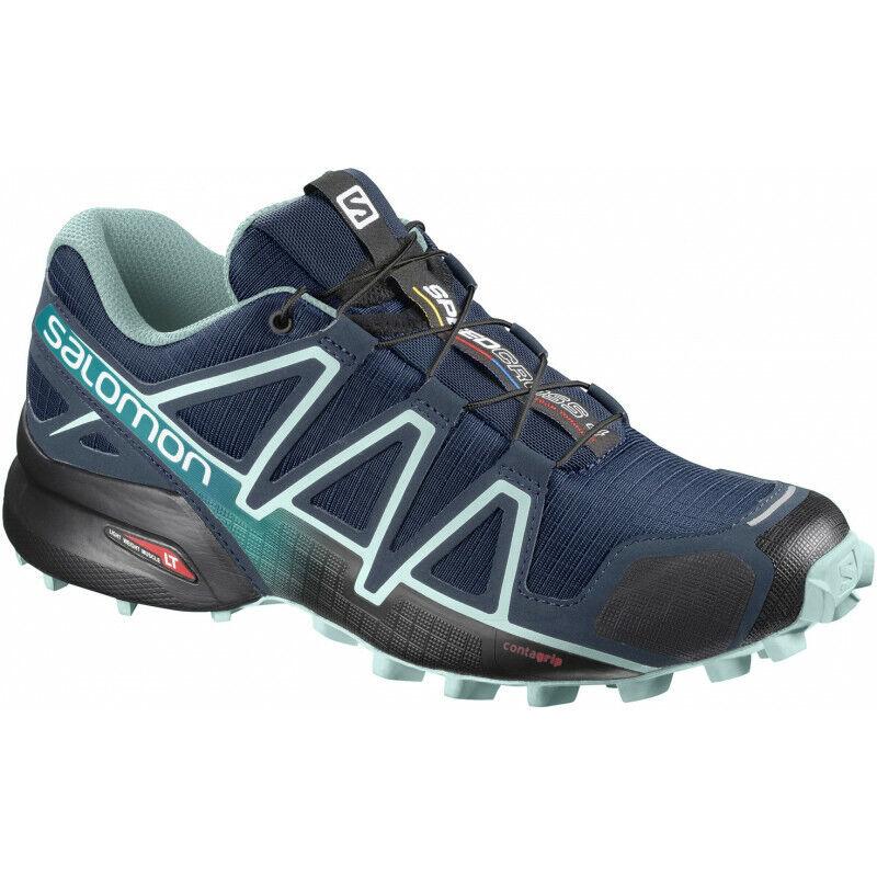 Mujer Salomon Speedcross 4 de Ancho Ajuste Para Mujer Trail Running Zapatos-Azul