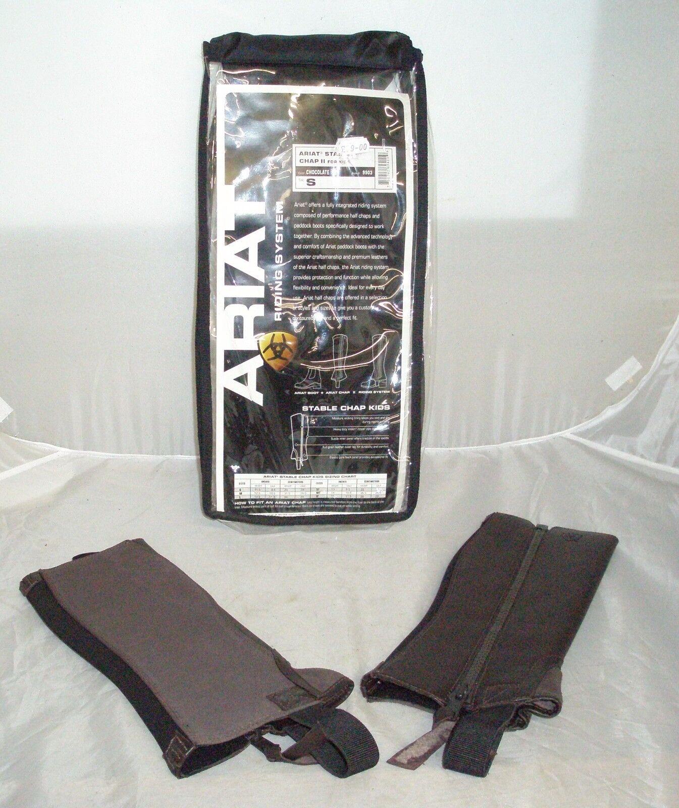Ariat Chap stabile in PELLE II PER BAMBINO TAGLIA SMALL, di Coloreeee cioccolato