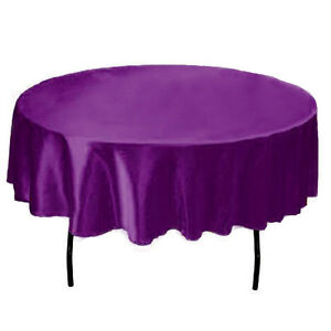 145cm-Round-Satin-Tablecloths-Fabric-Wedding-Table-Cover-Banquet-Home-Dinner-Dec
